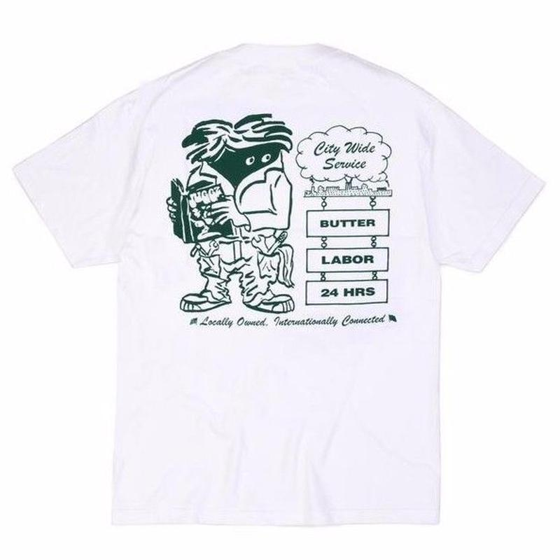 BUTTER GOODSXLABOR CITY WIDE S/S TEE  WHITE