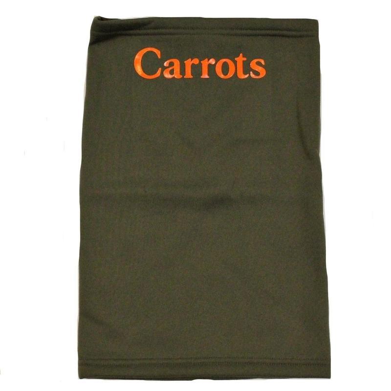 CARROTS WORDMARK NECK GAITER GREEN