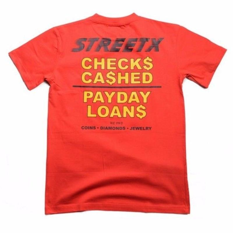 STREETX  CHEQUES CASHED TEE   RED