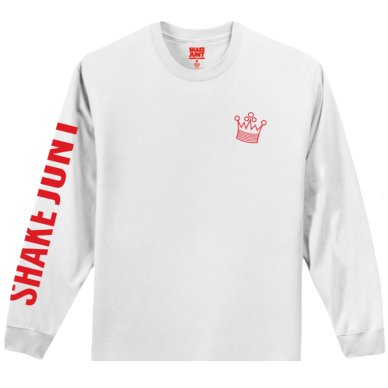 SHAKE JUNT PETES STEAKS L/S TEE  WHITE