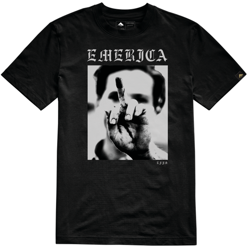 EMERICA SMILE PHOTO TEE  BLACK