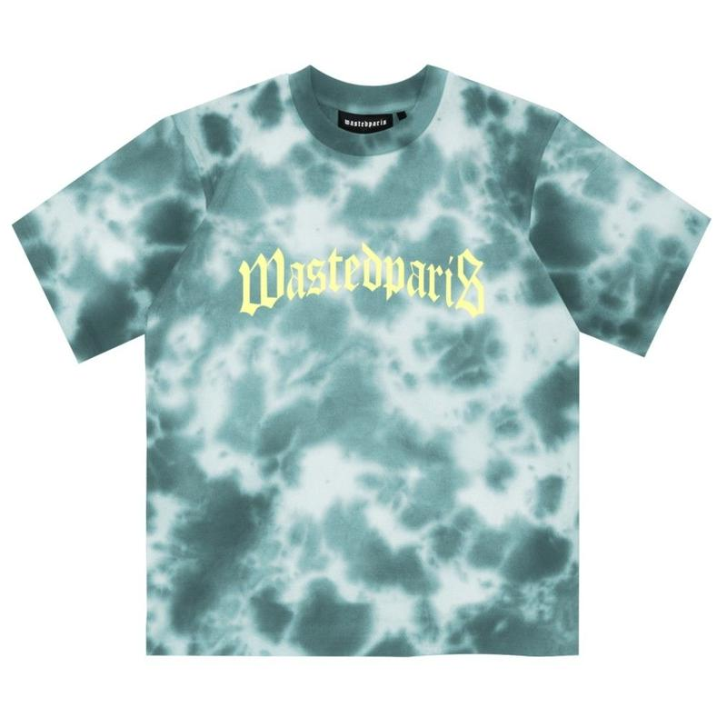 WASTED PARIS MARBLE DYE LAKE BLUE TEE