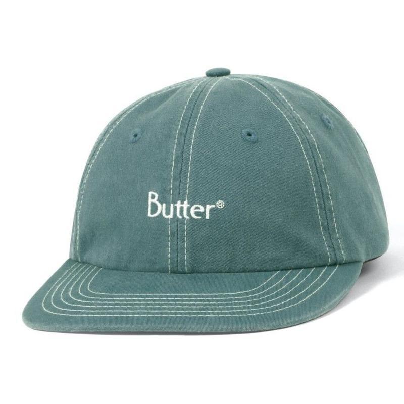 BUTTER GOODS STITCH 6 PANEL CAP-SPRUCE