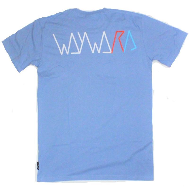 WAYWARD WHEELS  STRIDER TEE  CA,BLUE