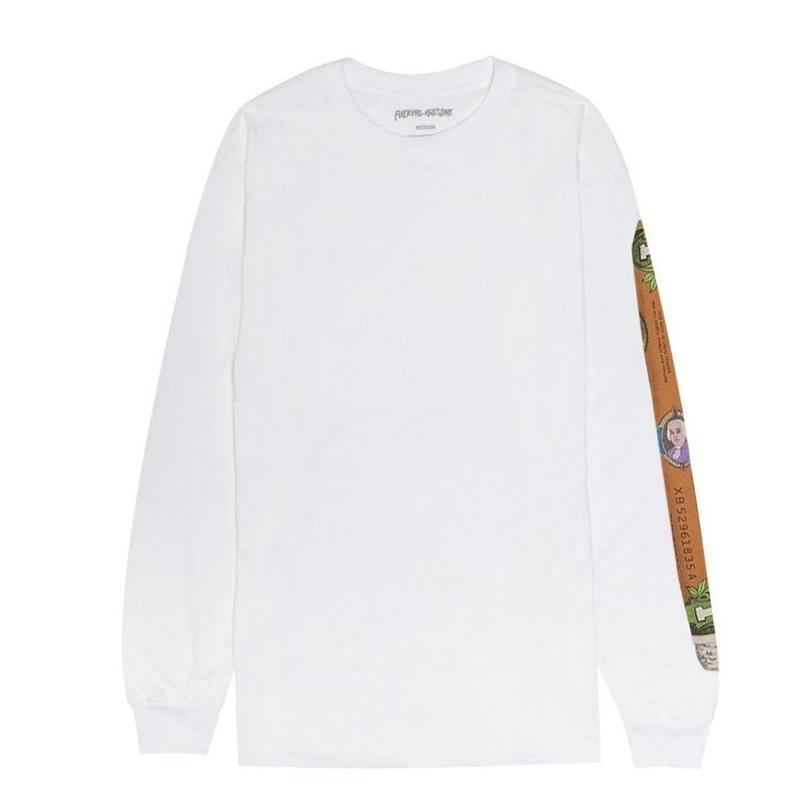 FUCKING AWESOME BLUNT L/S TEE-WHITE