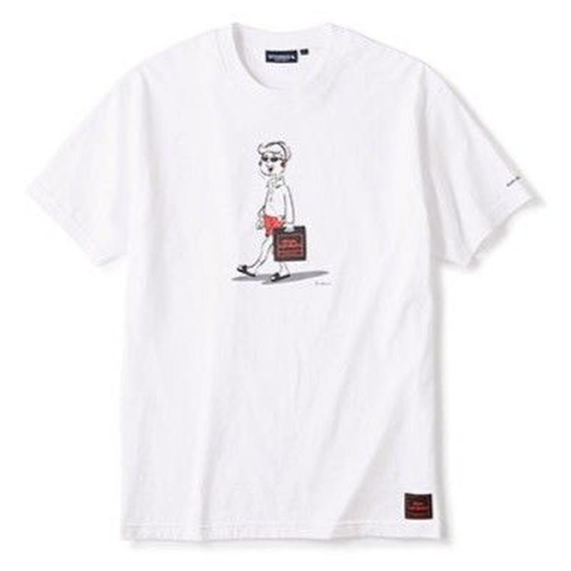 DISKUNION X INTERBREED BEAT HOLIC SS TEE-WHITE