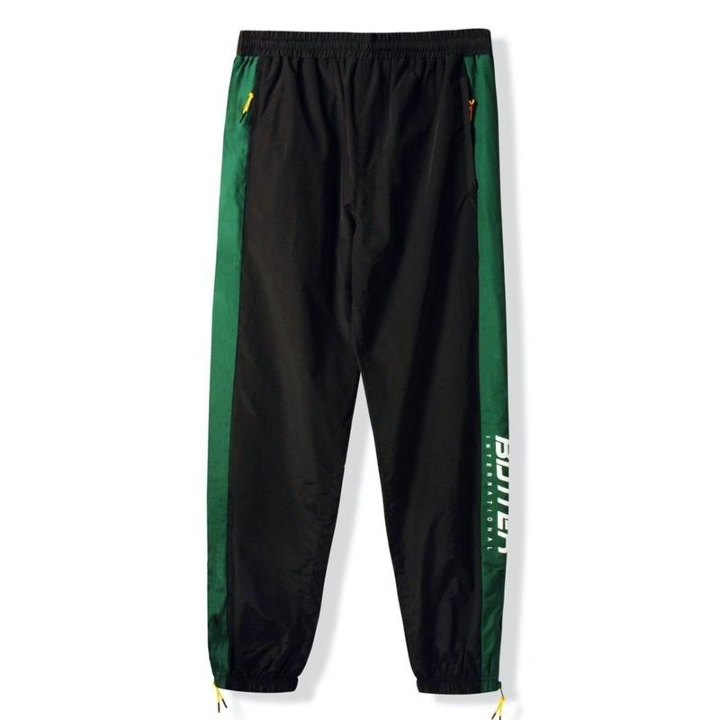 BUTTER GOODS RUNNER TRACKSUIT PANT-BLACK / FOREST