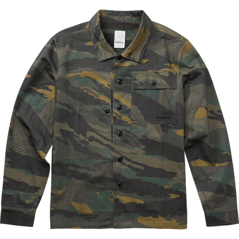 EMERICA  SQUADRON OVER SHIRT-CAMO