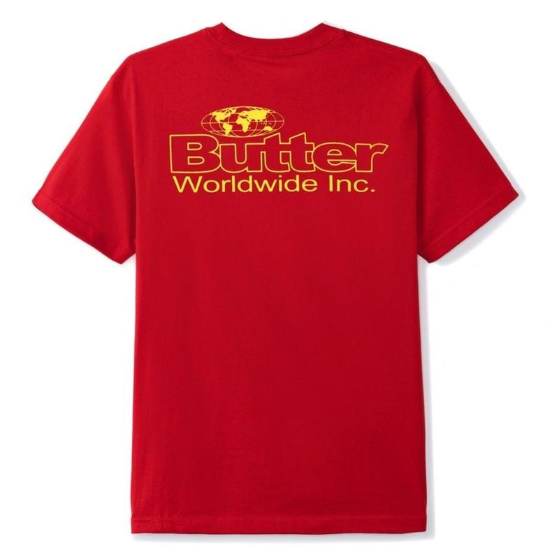 BUTTER GOODS INCORPORATED TEE-RED