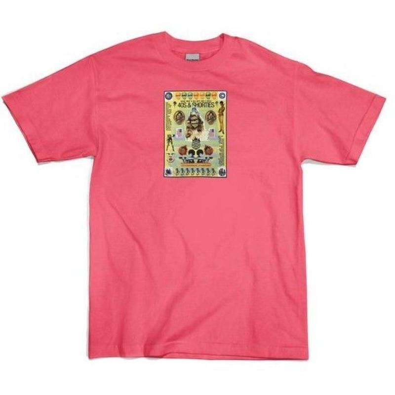 40S&SHORTIES POSTER TEE   CORAL