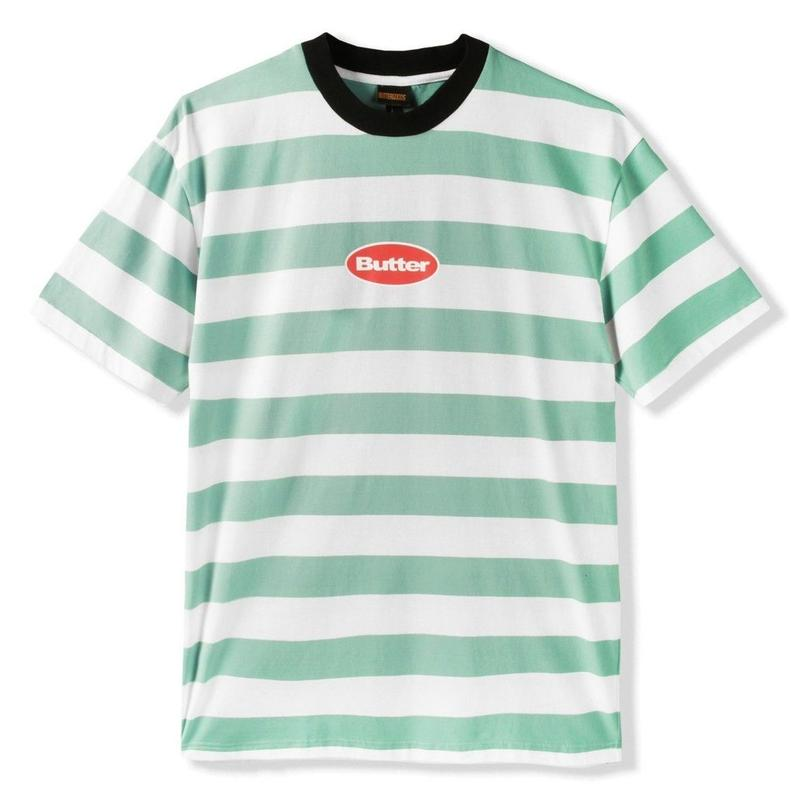 BUTTER GOODS BADGE STRIPE TEE- ICE