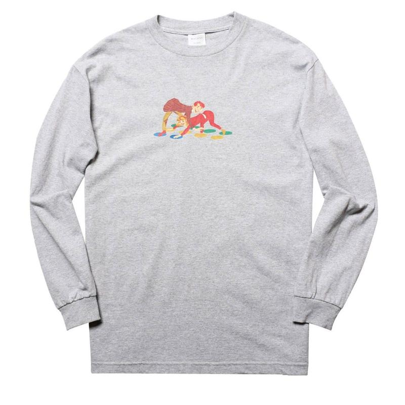 WHIMSY TWISTER L/S TEE-HEATHER GREY