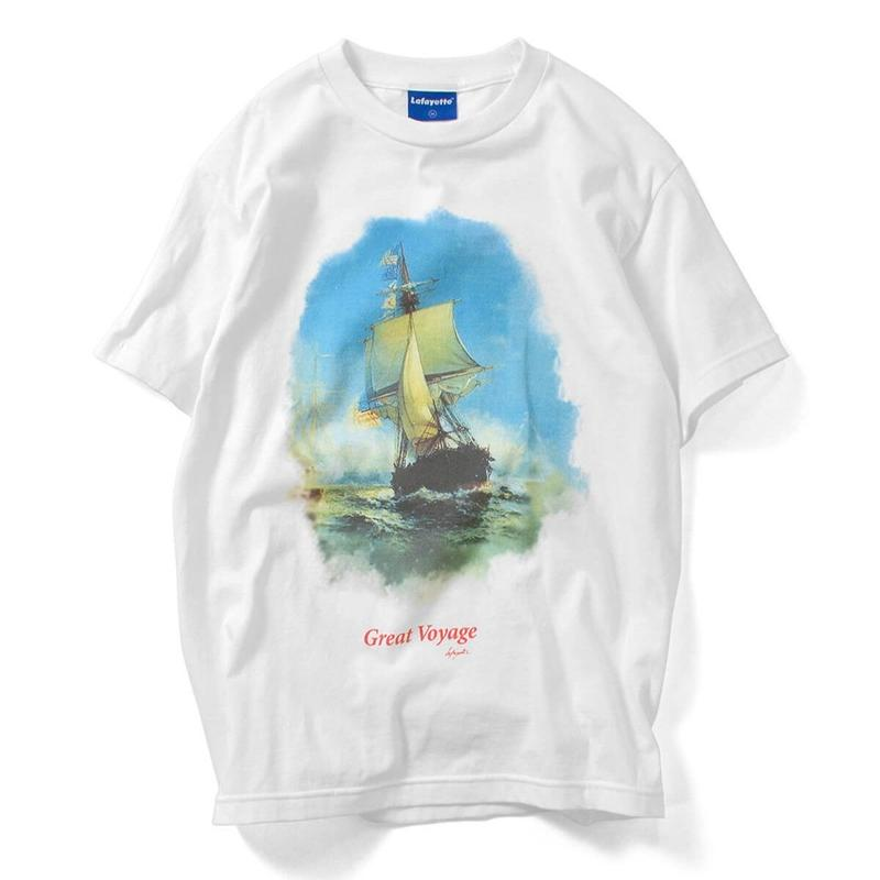 LAFAYETTE GREAT VOYAGE TEE-WHITE