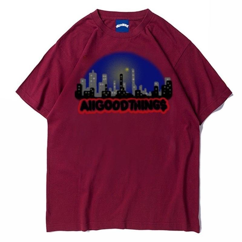 ALLGOODTHINGZ ALL CITY TEE-MAROON