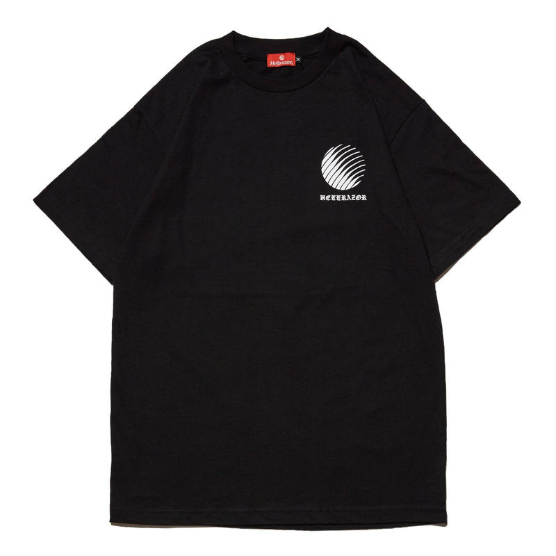 HELLRAZOR OL'ENGLISH LOGO TEE-BLACK
