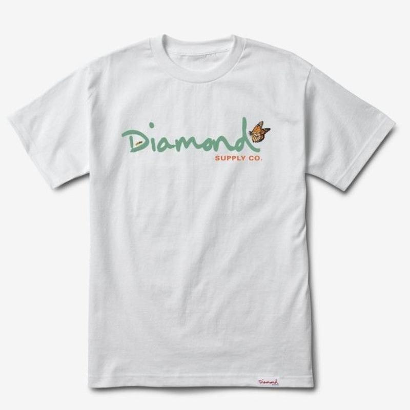 DIAMOND SUPPLY CO PARADISE OG SCRIPT TEE-WHITE