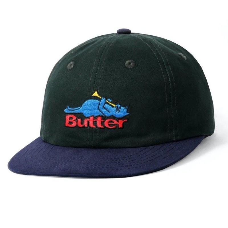 BUTTER GOODS CAT 6 PANEL CAP-MALLARD / NAVY