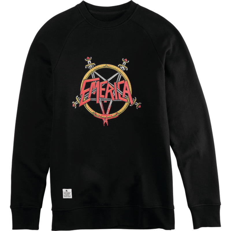 EMERICA  ARROWS CREWNECK   BLACK