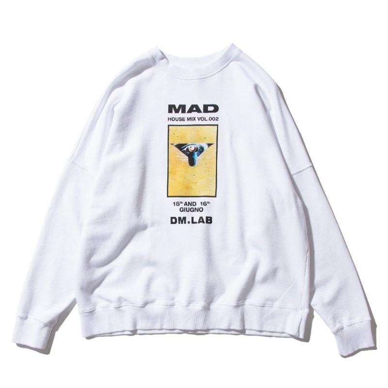 DEMARCOLAB MAD HOUSE MIX SWEAT WHITE