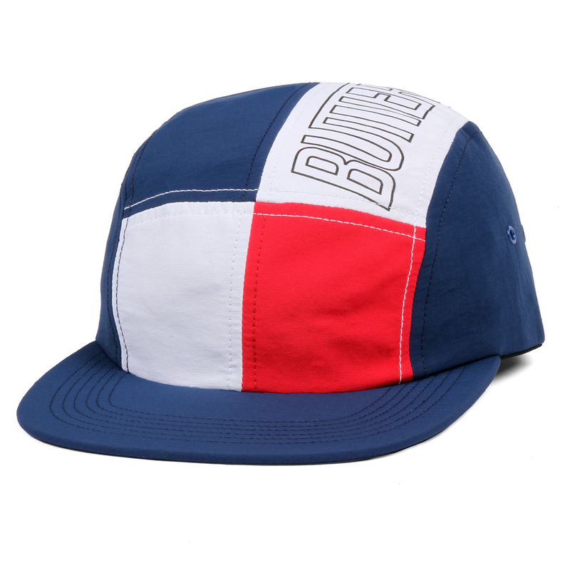 BUTTER GOODS  OUTLINE 5 PANEL CAMP CAP     BLUE / RED / WHITE