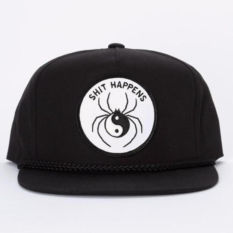 CRAWLING DEATH SHIT HAPPENS HAT  BLACK
