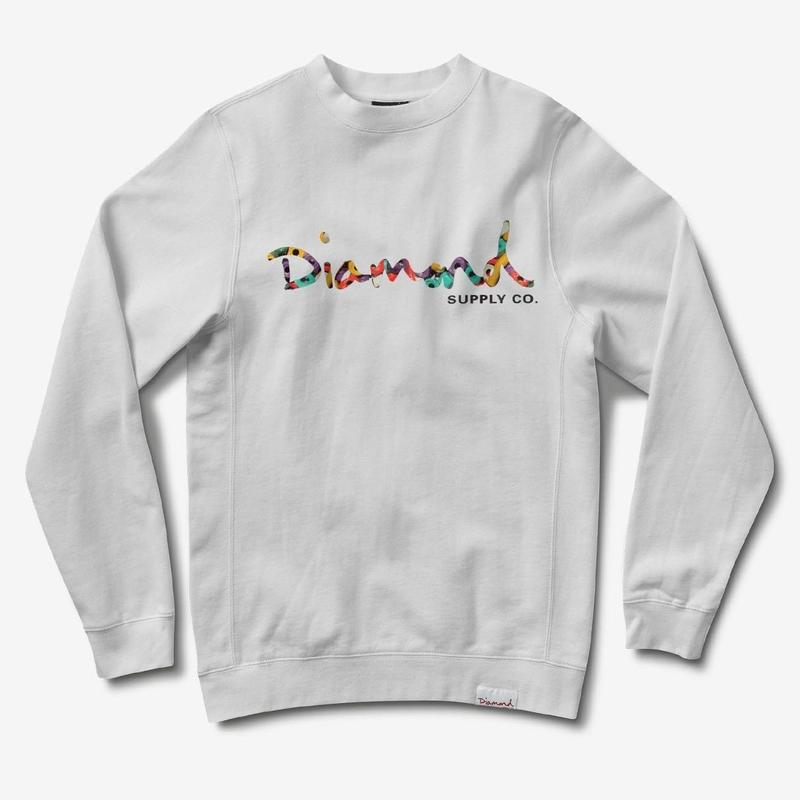 DIAMONDSUPPLYCO OGSCRIPT FESTEN CREW -WHITE