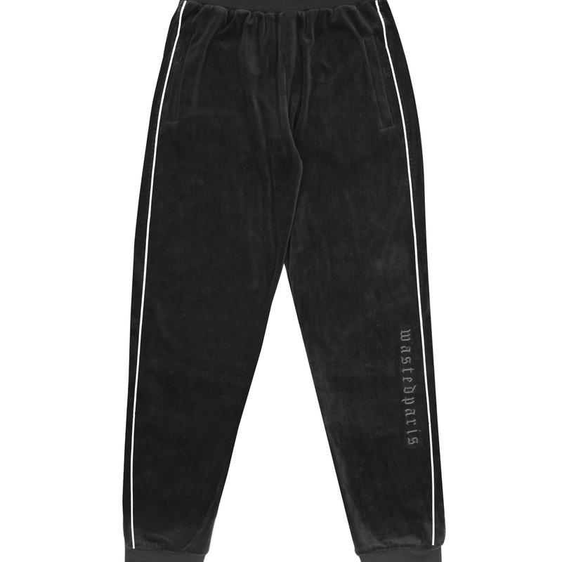 WASTED PARIS VELVET TRACKPANT BLACK