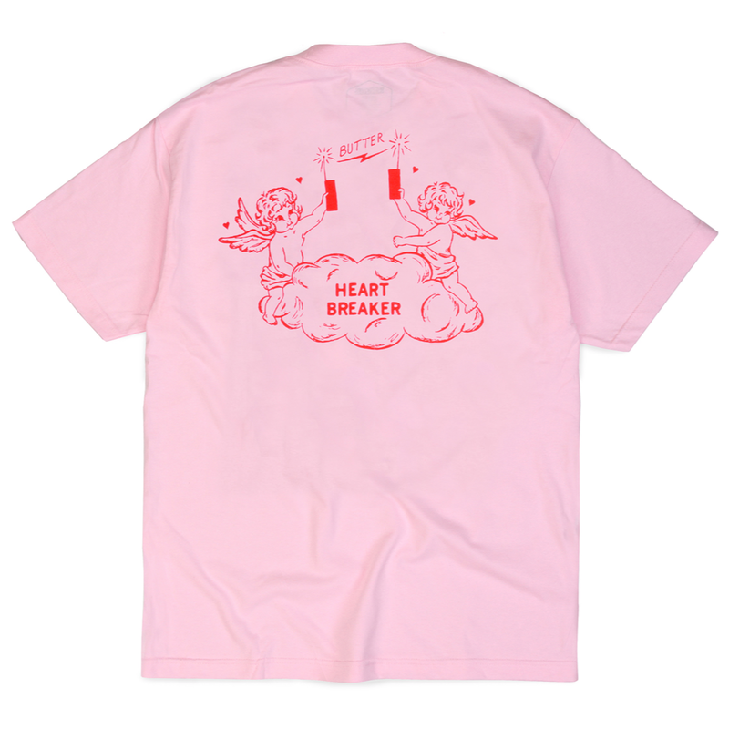 BUTTER GOODS HEART BREAKER TEE      PINK