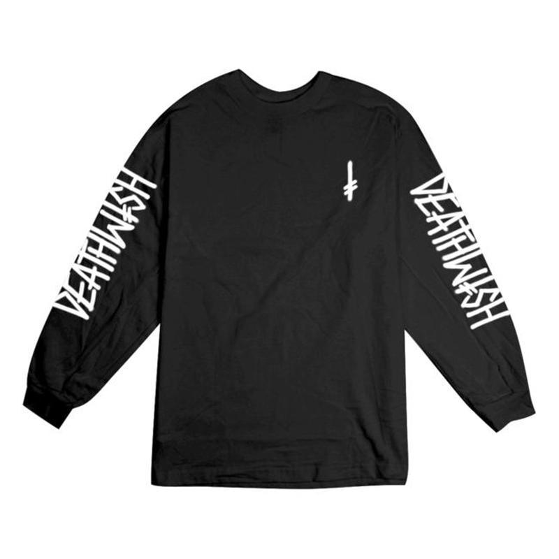DEATH WISH LANDMARK L/S TEE       BLACK