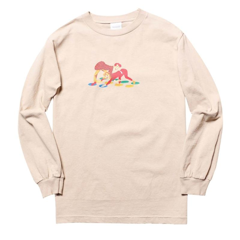 WHIMSY TWISTER L/S TEE-SAND