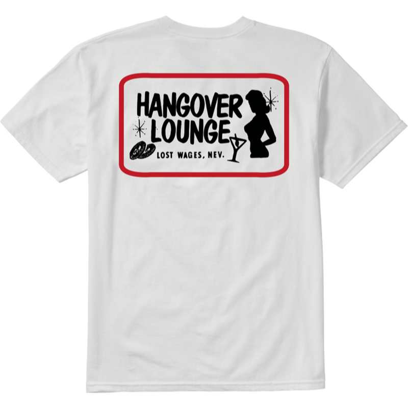 EMERICA HUNGOVER TEE WHITE