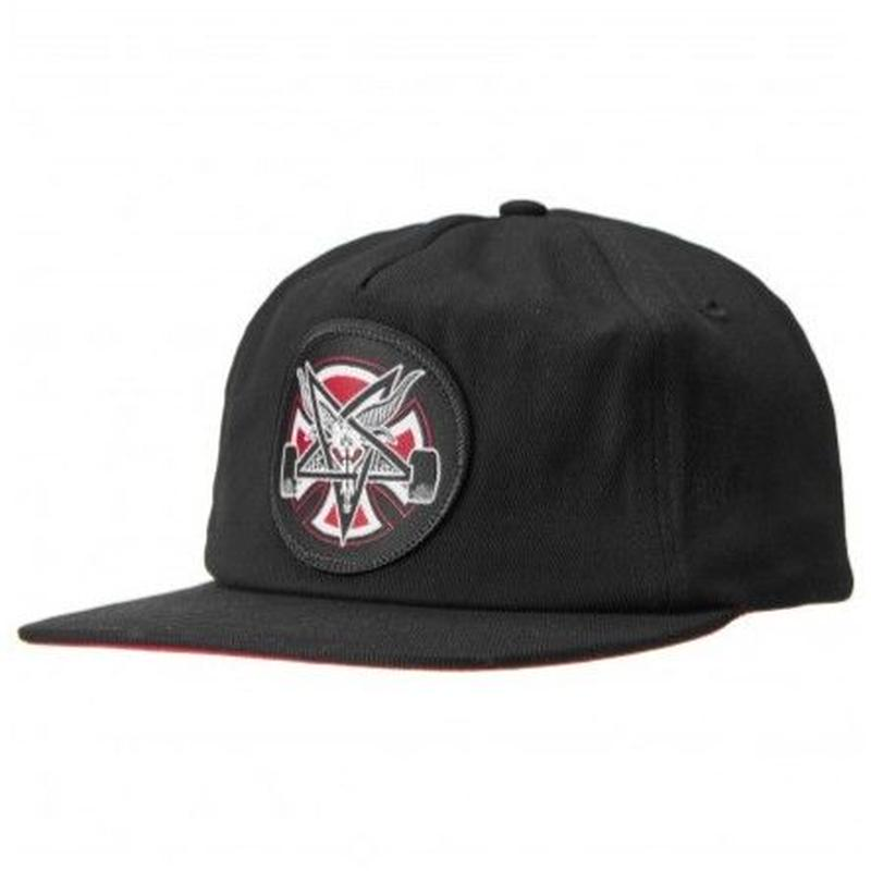 INDEPENDENT X THRASHER PENTAGRAM SNAP BACK  BLACK