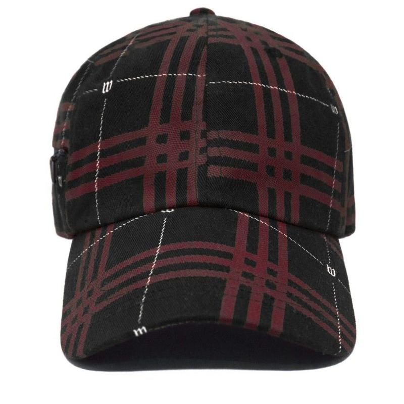 WASTED PARIS TARTAN CAP-BLACK/RED