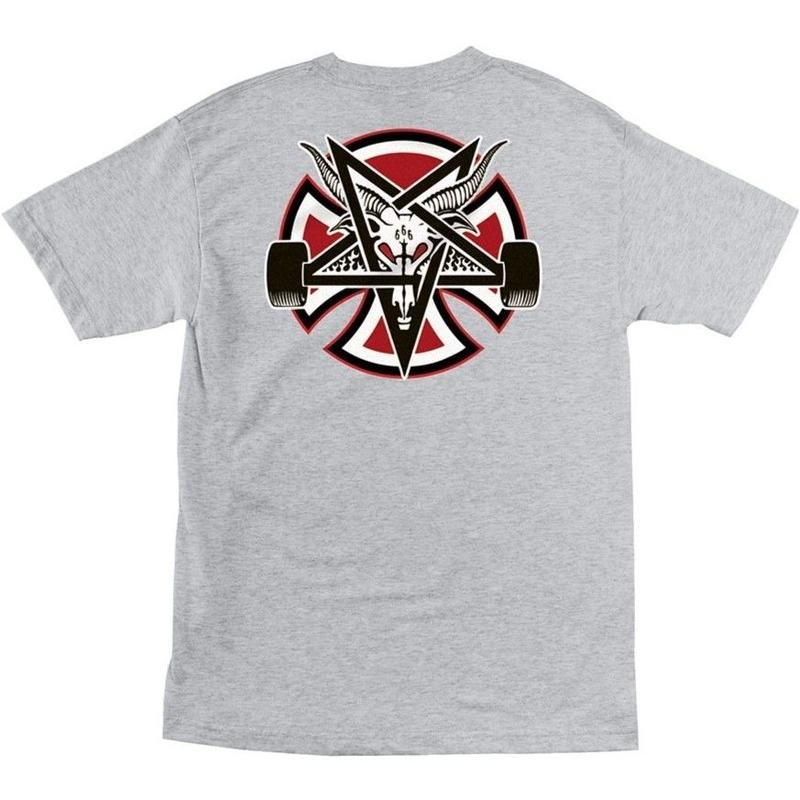 INDEPENDENT X THRASHER PENTAGRAM TEE H,GREY