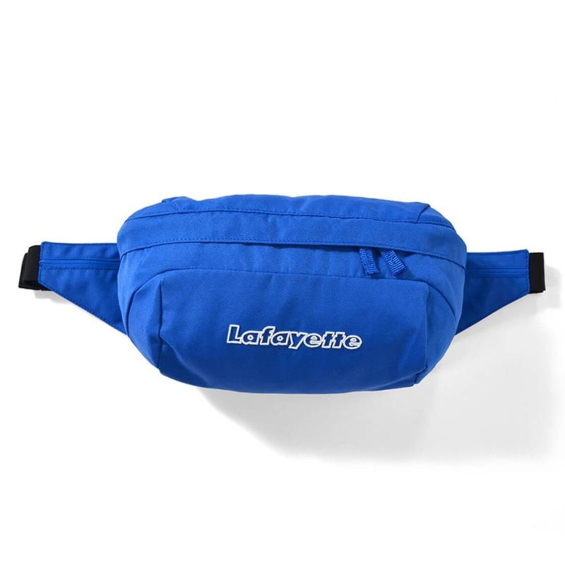 LAFAYETTE OUTLINE LOGO WAIST BAG-BLUE