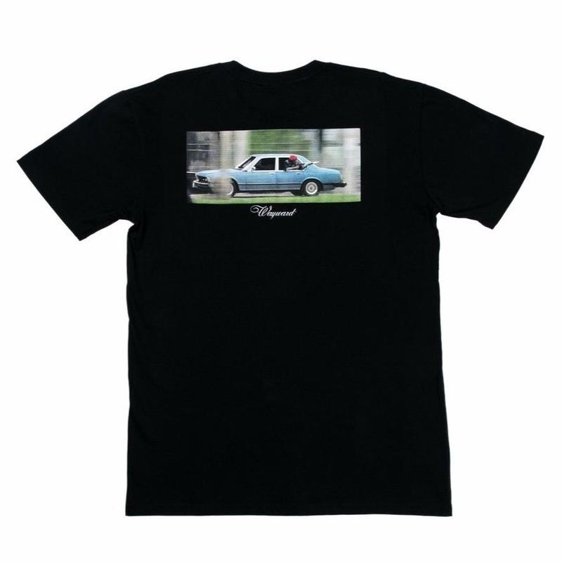 WAYWARD WHEELS BACKSEAT DRIVER TEE      BLACK