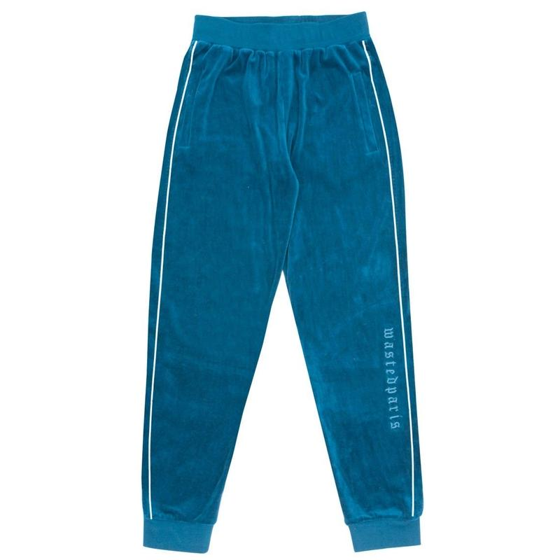 WASTED PARIS VELVET TRACKPANT RIVER BLUE