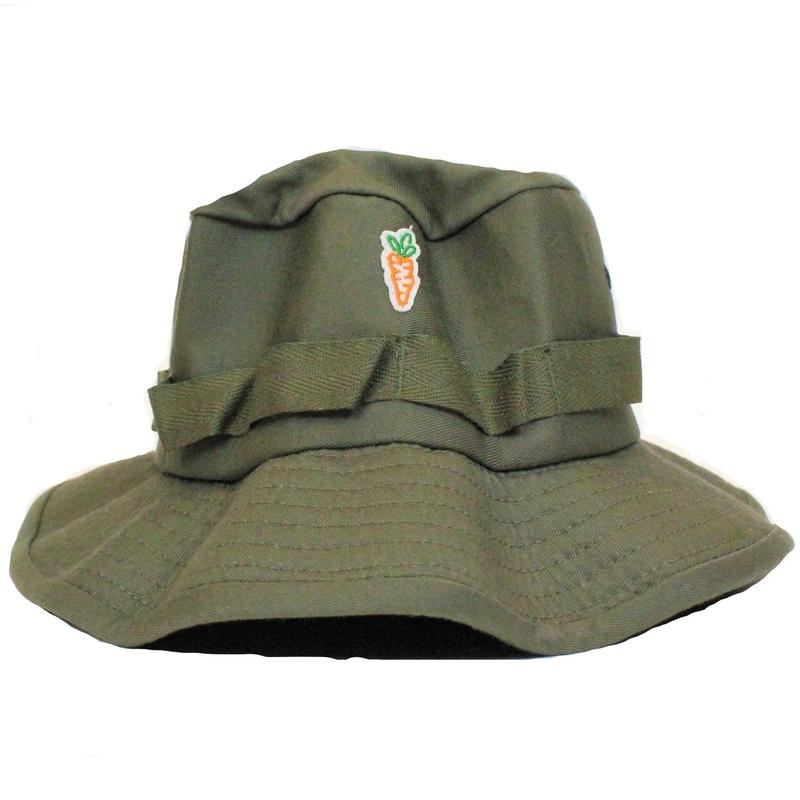 CARROTS PATCH BUCKET HAT GREEN