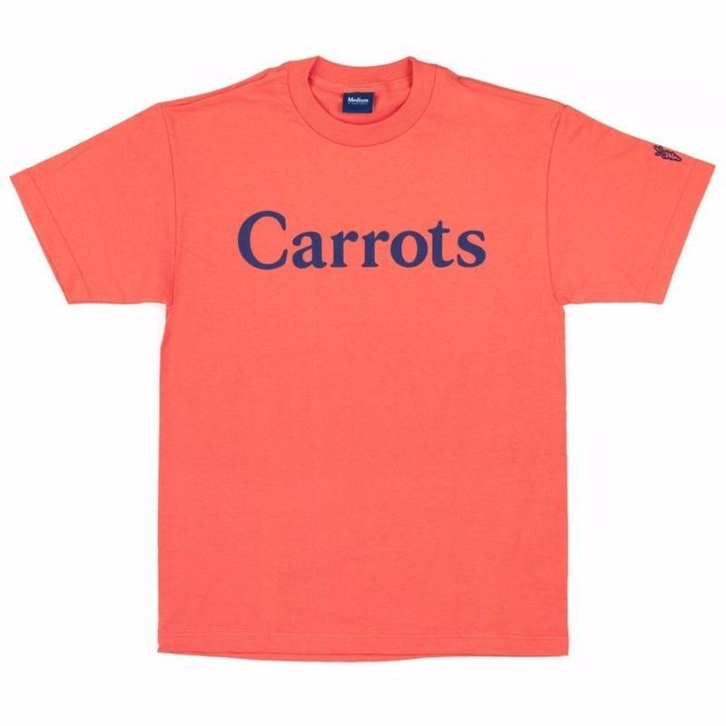 CARROTS  WORDMARK  S/S TEE      CORAL