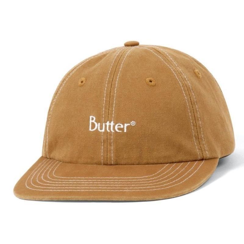 BUTTER GOODS STITCH 6 PANEL CAP-NUTMEG