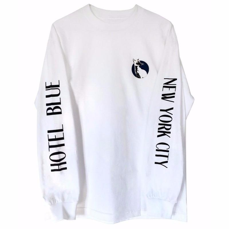 HOTEL BLUE SIMESE  L/S TEE    WHITE/CREAM