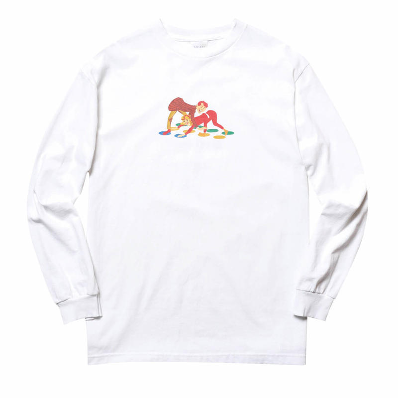 WHIMSY TWISTER L/S TEE-WHITE