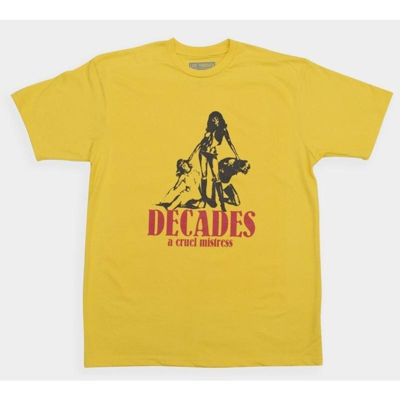 THE DECADES LADY DEATH TEE YELLOW