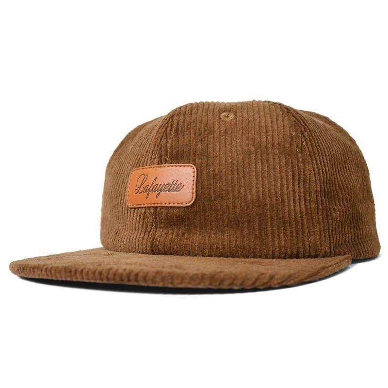 LAFAYETTE LEATHER PATCH 6 PANNEL CORDUROY CAP