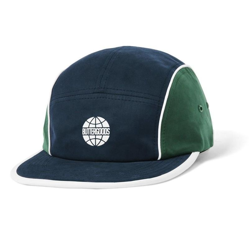 BUTTER GOODS PIPING CAMP CAP-NAVY / FOREST