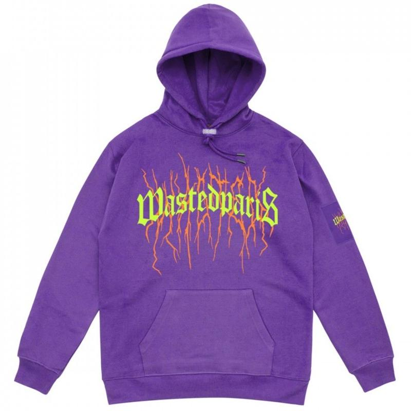 WASTED PARIS THUNDER BRIDGE HOODIE  PURPLE