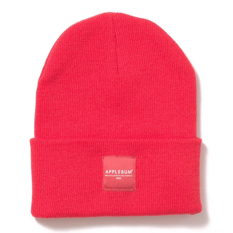 【APPLEBUM】Patch Knit Cap [Red]
