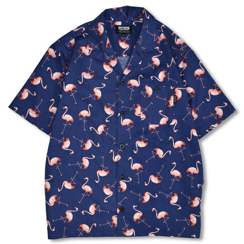 【DOUBLE STEAL】Flamingo box Shirt