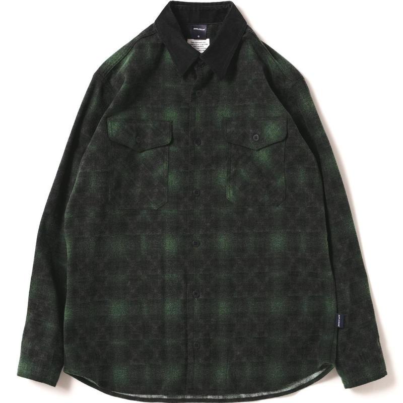 【APPLEBUM】Ombre Check Nel Shirt [Green]