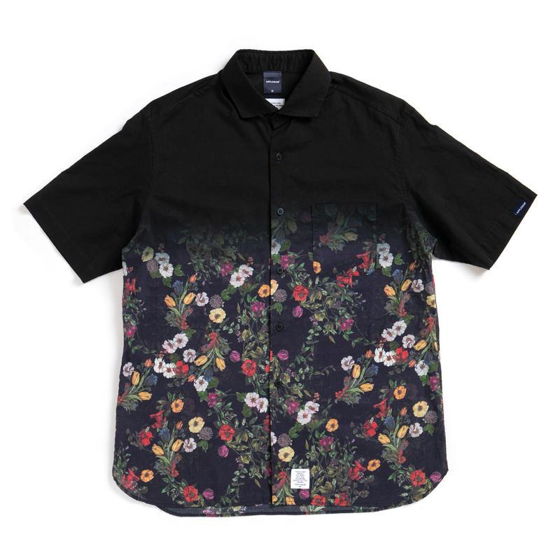 【APPLEBUM】Black Dyed S/S Shirt